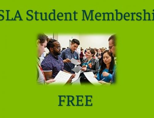 ASLA Student Membership is FREE